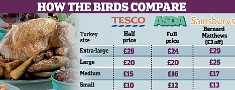 How the birds compare