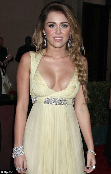 Did Miley Cyrus Get A Boob Job : miley, cyrus, Golden, Globe, Nominees:, Buxom, Miley, Cyrus, Denies, Rumours,