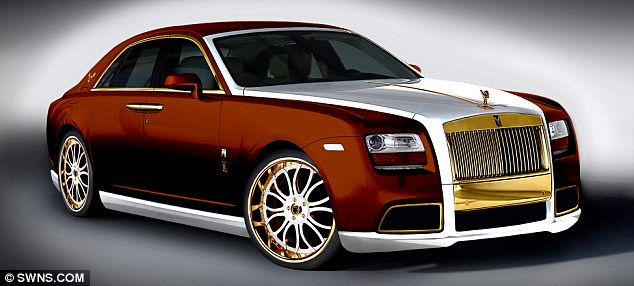 Driving offence: The classless 24-carat gold makeover of the iconic Rolls-Royce Ghost model