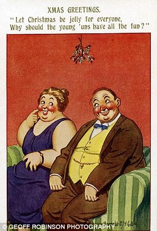 Bawdy Donald McGill Christmas Cards Go On Display For