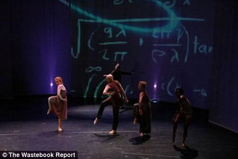 Artistic: The National Science Foundation spent £300,000 teaching the public about the origins of matter through the medium of modern dance