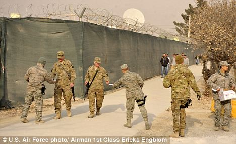 American Troops In Afghanistan Get Into The Christmas