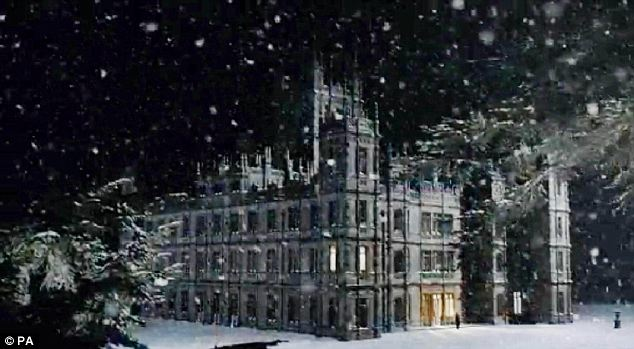 Downton Abbey in the snow
