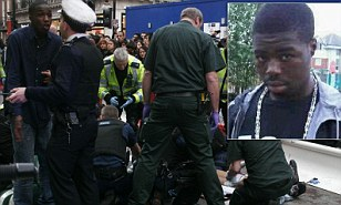 Black teenager stabbed to death outside Foot Locker in central London during Boxing Day sales