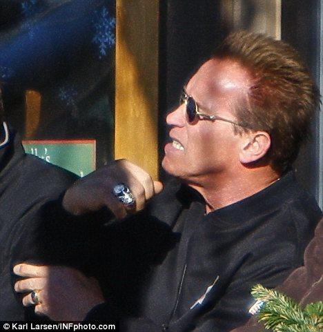 Arnold Schwarzenegger spotted wearing wedding ring as