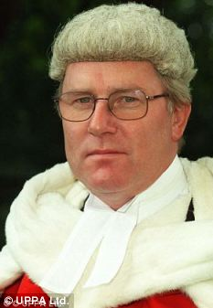 Sir Paul Coleridge, an older white man wearing a judge's wig
