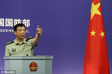 China's ministry spokesman Geng Yansheng, pictured said the U.S.'s new military strategy would be 'beneficial' for both countries