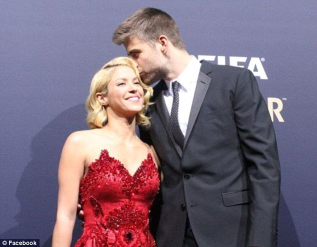 Facebook photos: Shakira took to the internet after the event to post up pictures of her enjoying the event with her footballer boyfriend, Gerard Pique