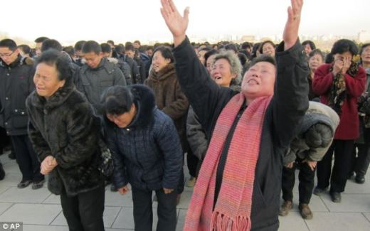 Image result for kim jong il crying people