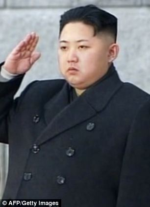 Salute: Kim Jong-un saluting during his father Kim Jong-Il's funeral in Pyongyang