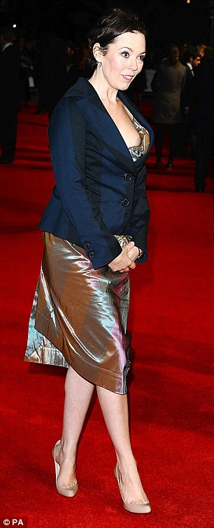 Shes almost giving us her own Peep Show Olivia Colman