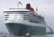 Luxury: Trips on the 151,000-ton Queen Mary 2 (above), which was launched in 2004, can cost up to £120,000