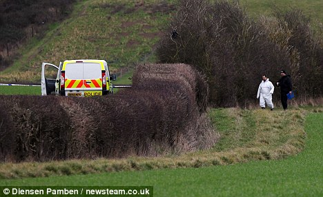 Probe: Police investigating the grim find have yet to work out whether the body is that of a man or woman