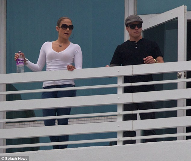 Jennifer Lopez and toyboy Casper Smart admire a rainbow from their hotel balcony  Daily Mail Online
