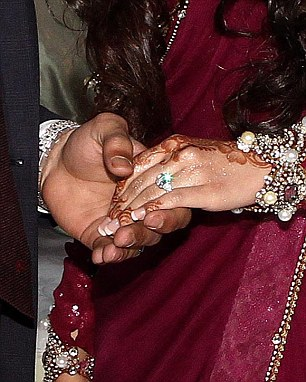 Wife to be: Amir Khan became formally engaged to Faryal Makhdoom at the couple's lavish engagement party last night at the Reebok Stadium in Bolton