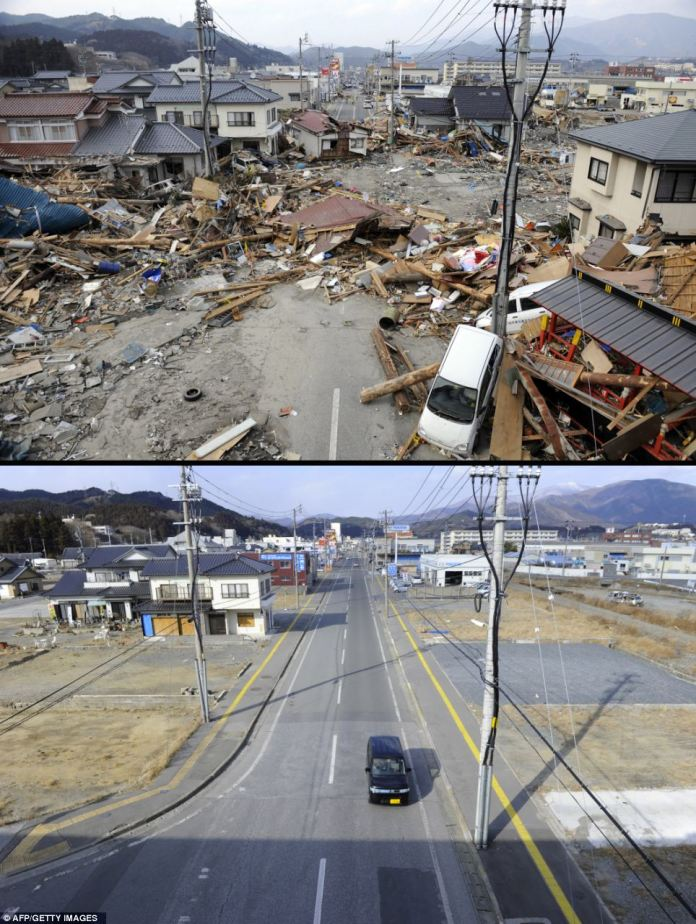Terremoto del 11 de marzo de 2011 en Japón. Reconstrucción 11 meses después.