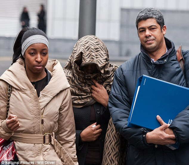 Gladys Popoola leaves Southwark Crown Court after pleading guilty to benefit fraud