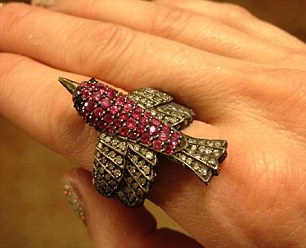 Bling: Meanwhile, Miranda posted a picture on her WhoSay account of a ring she got from husband Blake Shelton as a Valentine's Day gift