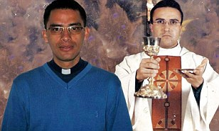 Suicide: Colombian priests Rafael Reatiga (left) and Richard Piffano hired hitmen to kill themselves after discovering Reatiga had Aids