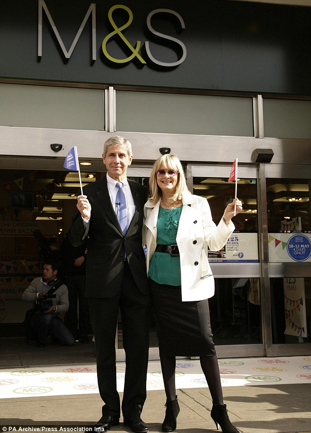 Successful partnership: Twiggy, pictured with Sir Stuart Rose, has helped revived M&S's fortunes and has now designed her own range for the store