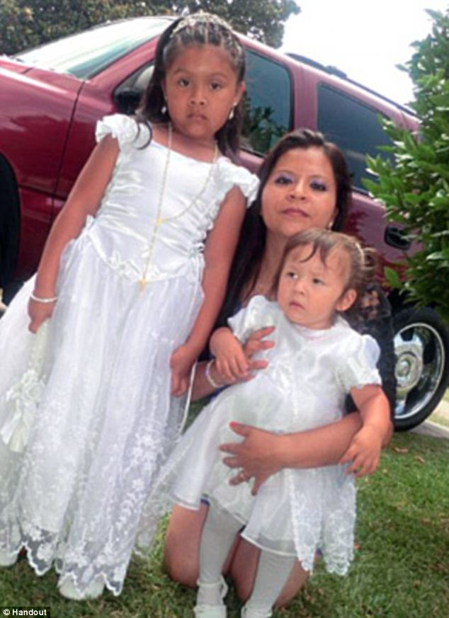 Horrible: Lorna Valle (centre) was arrested on suspicion of killing her 1-year-old daughter Lindsay (right) and attempting to kill her 5-year-old daughter Marian (left)
