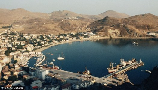 The couple took this image of Mirina, in Limnos, during a visit in 1985