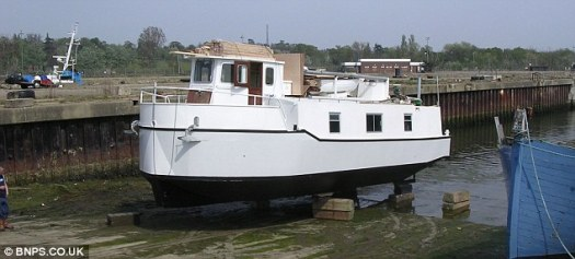 Boat number three: The launching of the couple's third and current boat Faraway in 2007