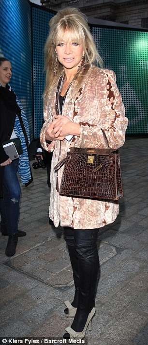 Fashionistas: Jo Wood and Jameela Jamil also attended the PPQ show