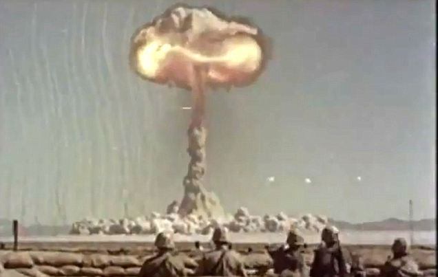 Only a test: In Operation Desert Rock, the military conducted a series of nuclear tests in the Nevada Proving Grounds between 1951 and 1957