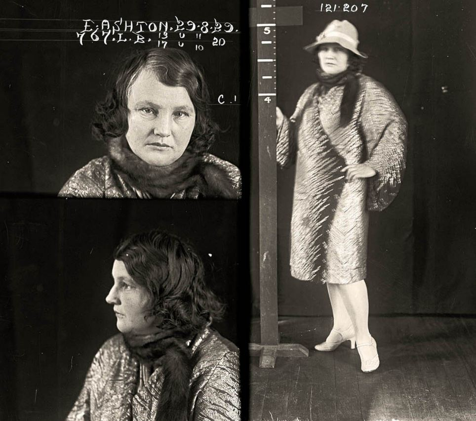 Career crime: Edith Ashton. 37, was a backyard abortionist who also dabbled in theft and fencing stolen goods. Described in the media as a 'social somebody' she was suspected of contributing to the deaths of at least two women during abortions