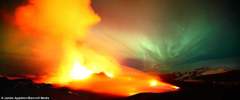 Northern Lights Lava Lamp