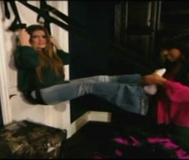 Shes A Swinger Khloe Kardashian Tries To Install A Sex Swing Into Her Bedroom In