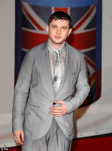 Skinny: Plan B shows off his slim physique at the 2012 Brit Awards last night