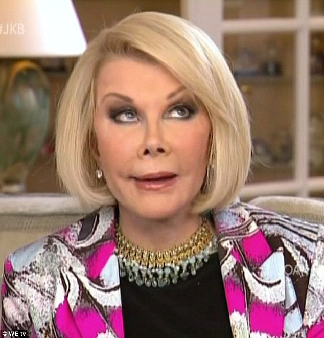 Young at heart: Joan Rivers did not take kindly to her make-up artist making fun of her eyebrows, saying she looks 90