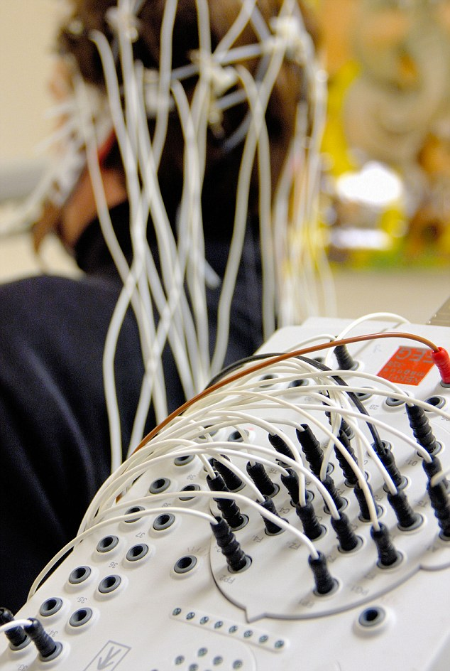 Measuring brain waves with EEG machine: Recent breakthroughs have allowed scientists to 'see' what is inside people's heads for the first time - but could the technology really be used to create robot Avatars?