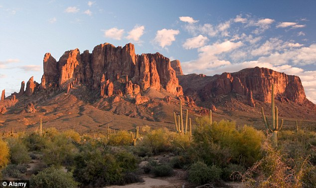 Stunning: Arizona's Superstition Mountains are a popular spot for hikers and extreme sports enthusiasts alike