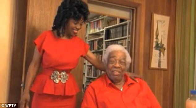 Age ain't nothin' but a number: Amos Larkins says when he walks down the street people think his wife is his daughter because she looks so young