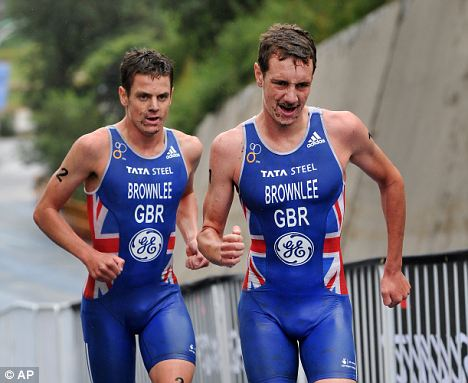 Race to the finish: Alistair beat Jonny to claim the European gold