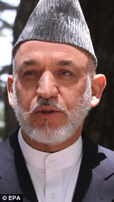 Reversal: Afghan president Hamid Karzai has backed a strict code of conduct for women in the country