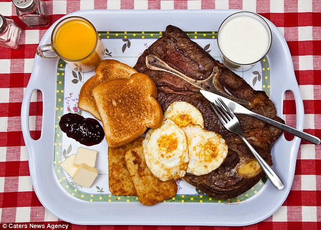 Serial killer Ted Bundy declined a 'special meal', so he was given a 'traditional' - steak (medium rare), eggs (over easy), hash browns, toast with butter and jelly, milk and juice