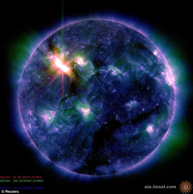 This flare was categorized as an X5.4, making it the second largest flare -- after an X6.9 on August 9, 2011 -- since the sun's activity segued into a period of relatively low activity called solar minimum in early 2007