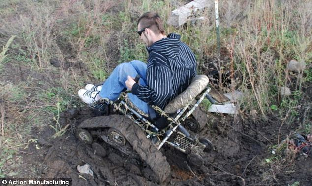 action track chair wicker saucer trackchair takes the disabled off road and even hunting is its speciality as this user demonstrates