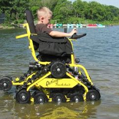 Action Track Chair Walker Bouncing Trackchair Takes The Disabled Off Road And Even Hunting Making A Splash Can Navigate Shallow Water