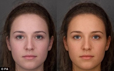 Before and after: A study has found that eating a diet of fruit and vegetables can lead to a person having a healthy glow and appearing more attractive in just six weeks