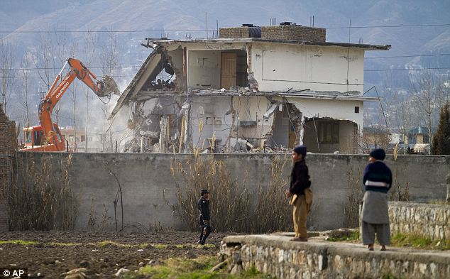 Crowded: 28 people lived in the Abbottabad compound with bin Laden including his three wives, eight children and five grandchildren