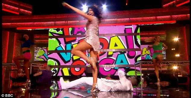 Skimpy: Despite her nerves, Suzi impressed with her moves