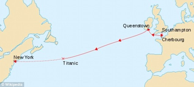 inside the titanic diagram minn kota power drive v2 wiring survivors and tennis icons karl behr richard williams doomed ship this map shows path of when it sank fell
