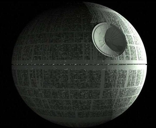 That's no moon: The Death Star space station from Star Wars. Nasa has reassured sun watchers that the Imperial fleet's space station has not visited our solar system