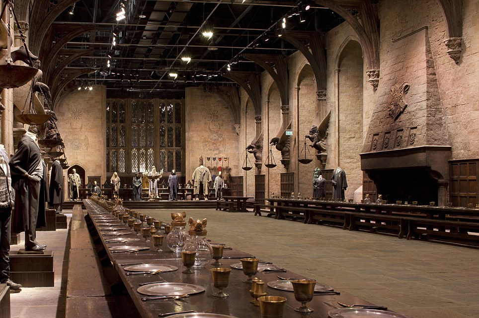 Great Hall: Inside Hogwarts Castle at the studios near Watford in north London