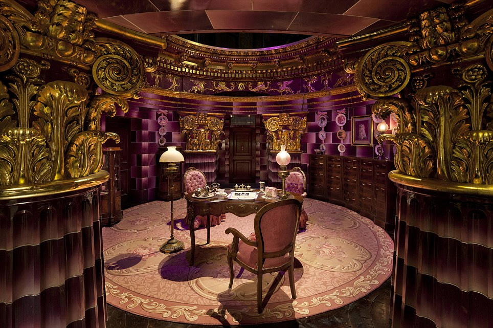 Magical: Professor Umbridge's office inside the Ministry of Magic at the Harry Potter film studios